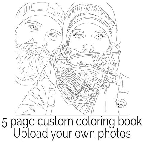 Color Me Book, A Custom Coloring Book Made From Your