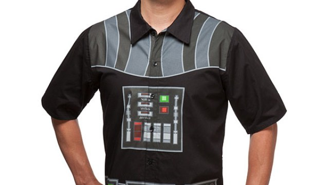 a2ab737f Darth Vader Short Sleeve Button-Up Shirt