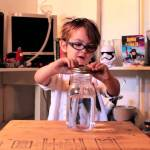 Five-Year-Old Oliver Makes a Tornado in a Jar For His First Science Video on 'Oliver's Science Lab'