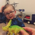 An Adorable Two Year-Old Scottish Boy Politely Identifies Dinosaur Toys With His Mother