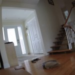 A Self-Destructive Roomba Caught in a Plastic Bag Throws Itself Off the Stairs To an Untimely Death