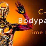 Time Lapse Video of Artist Kay Pike Painting a Star Wars C-3PO Costume on Her Body