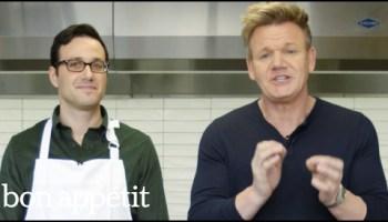 A Very Forthright Gordon Ramsay Struggles to Eat