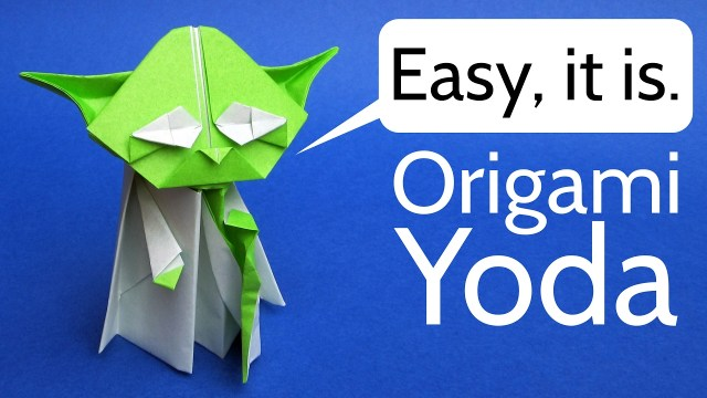 How To Make An Origami Master Yoda Darth Vader And A Stormtrooper
