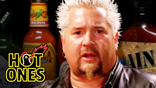 Ricky Gervais Attempts the 'Hot Ones' Spicy Wing Challenge While