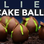 How to Make Alien Egg Cake Balls