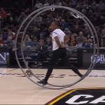 Amazing German Wheel Gymnastics Performance During the Halftime of Cleveland Cavaliers Game