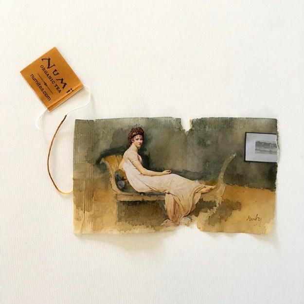 363-days-of-tea Artist Creates Stunning Mini Art work At the Skinny Paper of Used Tea Luggage in '363 Days of Tea' Random