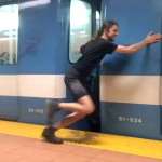 An Amazing Man Stops and Launches a Subway Train With His Bare Hands
