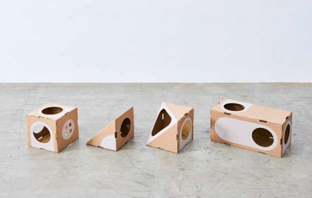 beginners-package Wonderfully Modular, Interchangeable Cardboard Cat Dwellings Designed by Taiwanese Architects Random