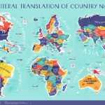 An Incredible World Map That Plots the Literal Translation of Every Country Name In the World