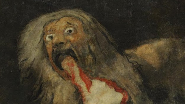 saturn-devouring-his-son The Terrifying Brute Force of the Francisco Goya Black Painting 'Saturn Devouring His Son' Random