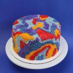 Gorgeous Handmade Cakes With Buttercream Icing Styled to Look Like Colorfully Patterned Shag Rugs