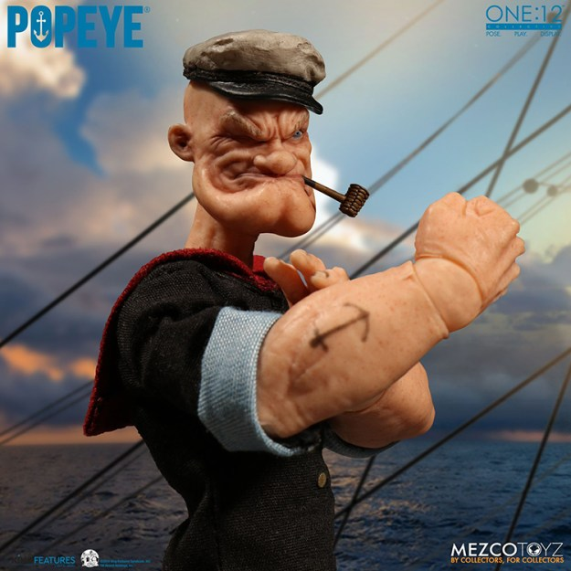 a-realistic-popeye-action-figure A Realistic Popeye the Sailor Action Figure Random