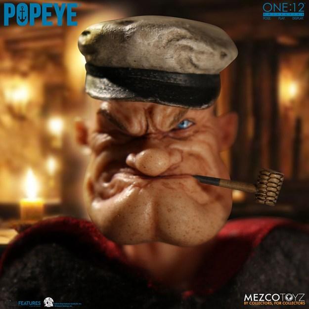 popeye-figure A Realistic Popeye the Sailor Action Figure Random