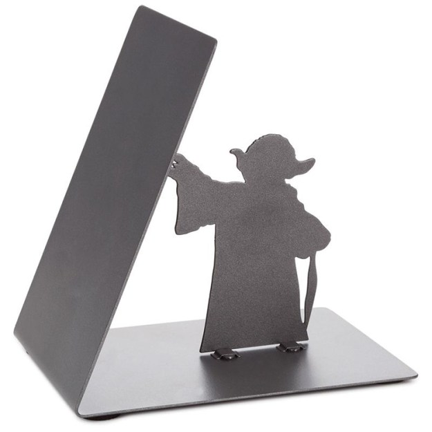 star-wars-yoda-bookend-2 A Metal Jedi Master Yoda Bookend That Appears to Use the Force to Hold Up Books Random