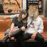 Surreal Paintings of People With Animal Heads Riding the New York City Subway