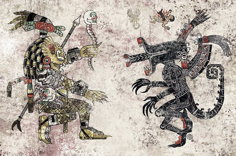 Incredibly Detailed Aztec Inspired Pop Culture Illustrations By Jorge Garza