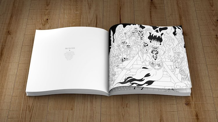 Ode-to-a-Lich Dungeons & Dragons Coloring Book Random