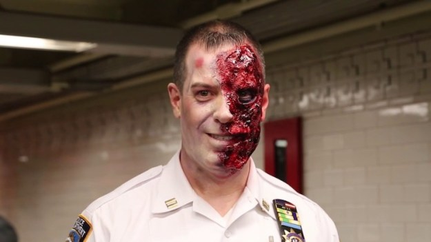Haunted-Subway-Station MTA Partners With NYPD Transit to Give NYC Subway Riders an Elaborate Haunted Halloween Experience Random