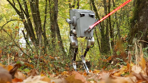 Cassie-as-AT-ST OSU Engineers Dress Their Bipedal Ostrich Inspired Robot as a Star Wars AT-ST for Halloween 2018 Random