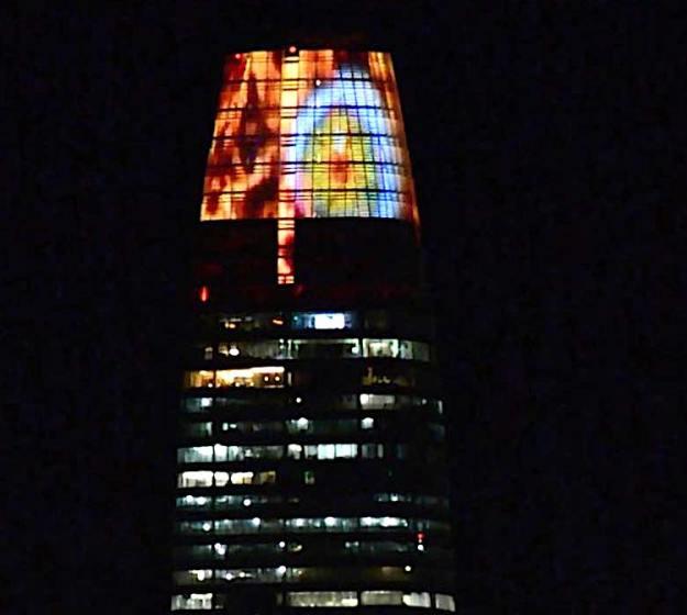 Eye-of-Sauron-Salesforce-Tower The San Francisco Salesforce Tower Turns Into the 'Lord of the Rings' Eye of Sauron on Halloween Random