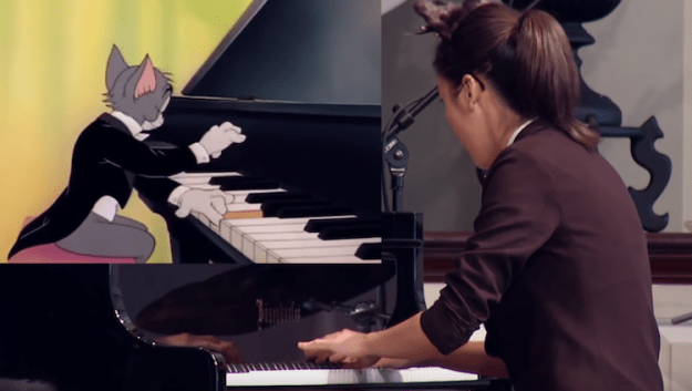 Yannie-Tan-Tom-Jerry-Piano Talented 16 Year Old Pianist Dressed Like a Cat Performs in Perfect Synch With 'Tom and Jerry' Cartoon Random
