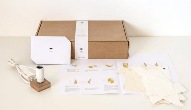 DIY-Papercraft-Lamps Lamp Kits That Fold Into Geometric Papercraft Animals Random