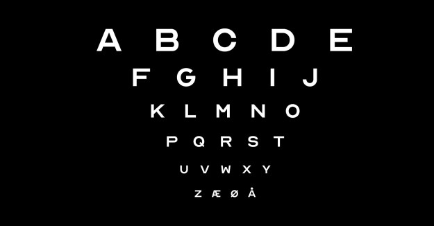 Optician-Sans Optician Sans, A Free Font Based Upon the Letters Historically Used on Eye Examination Charts Random