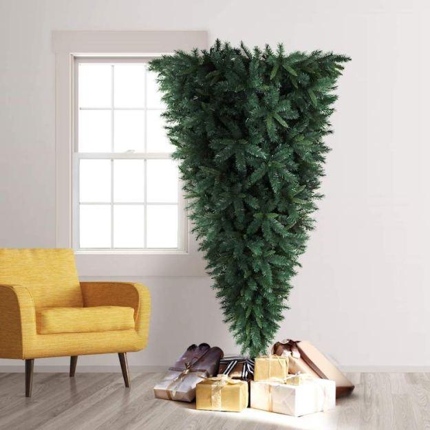 Upside-Tree-With-Gifts A Space Saving Upside Down Christmas Tree Random