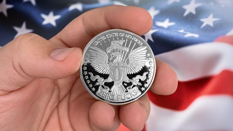 Zero Fucks Coins Flag