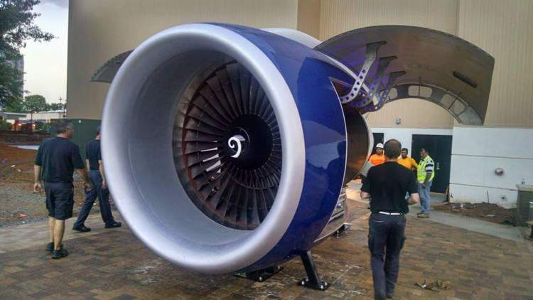 Delta 757 Jet Engine Grill