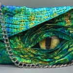 Wonderfully Creepy Purses and Clutches With Monsters and Dragons Peeking Out From the Folds