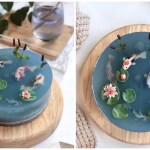 A Beautifully Realistic Koi Pond Cake