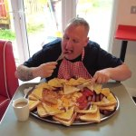 Man Attempts to Eat the Biggest Full English Breakfast in the World That Has Twelve of Everything in One Hour