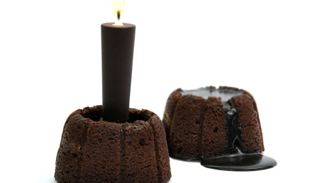 Fujisan A Warm Molten Lava Cake Created With Chocolate Candle