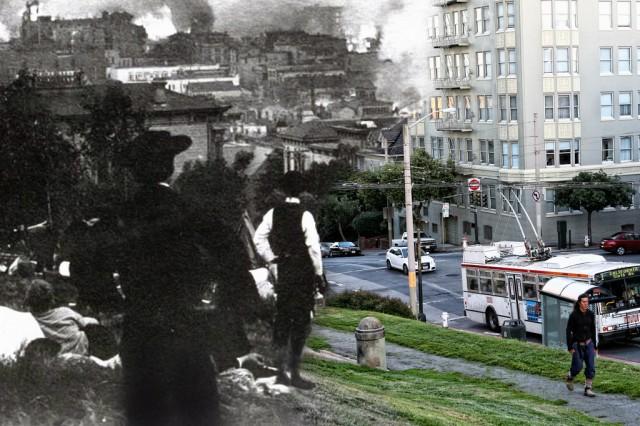 1906 San Francisco Earthquake composite photos by Shawn Clover