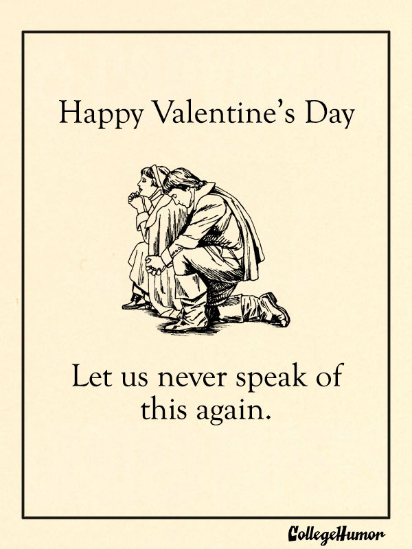 Valentine's Day Cards For Puritans