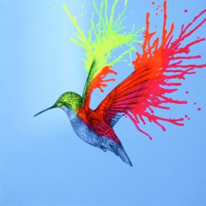 neon paintings painting acrylic bird animal easy drawings paint mcnaught louise wild spray animals simple artist artwork drawing abstract canvas