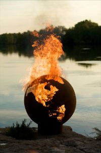 Planet Earth Sculptural Fire Pit