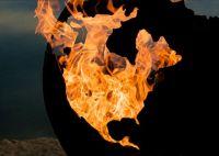 Planet Earth Sculptural Fire Pit