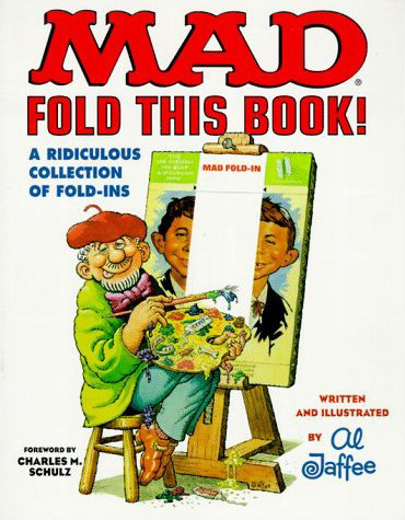 Mad magazine fold in book