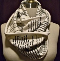Book Scarves, Wearable Literature by Tori Iannarino