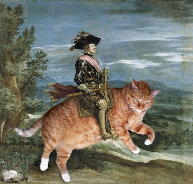 Classical Paintings, With Cats