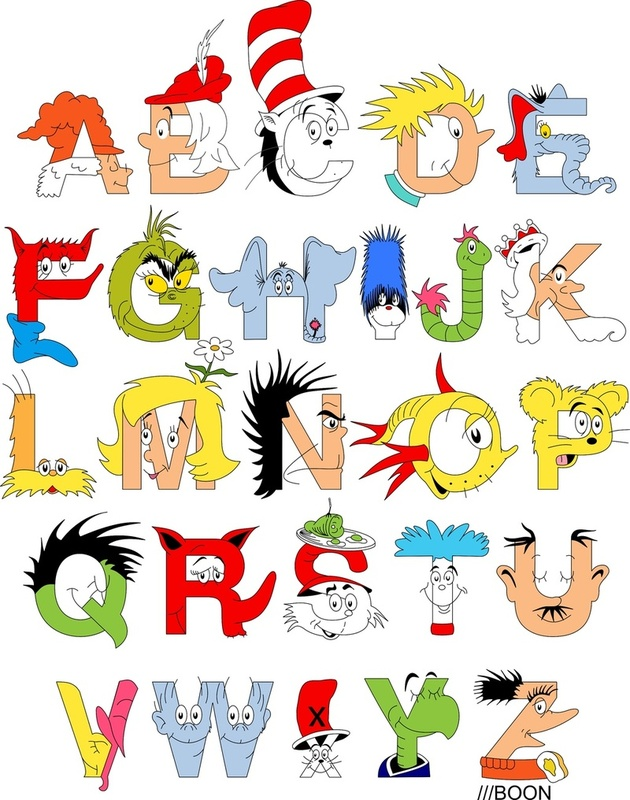 Awesome Dr Seuss Alphabet by Mike Boon