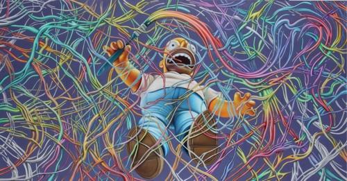 Homer Simpson As Jackson Pollock