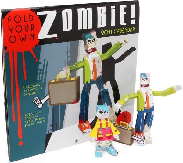 Build-A-Zombie Papercraft Calendar