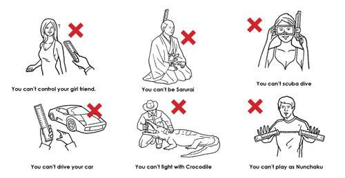 Hilarious Product Warning Illustrations by Amadana