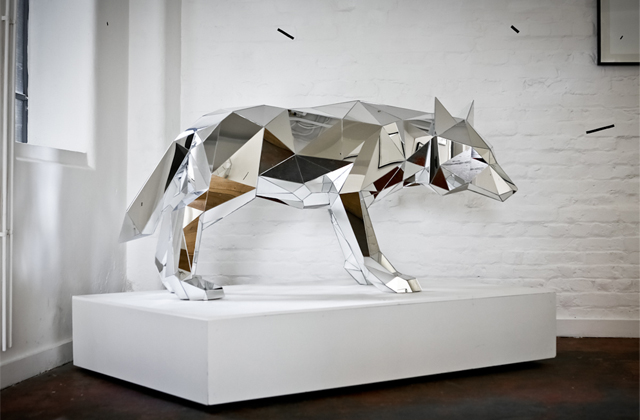 Nice Mirrored Animal Sculptures by Arran Gregory