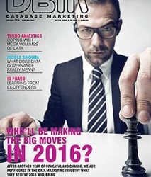 2016 predictions published in Database Marketing Magazine